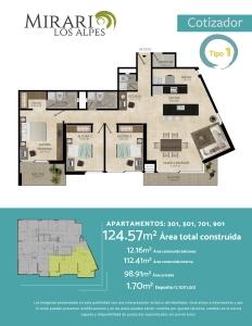 Apartamento en el sector Los Alpes, Pereira