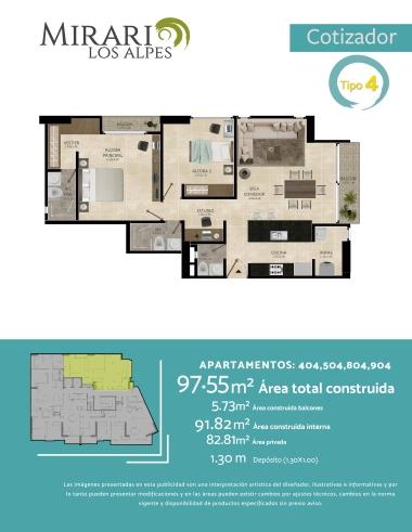 Compra Apartamento en el sector de Los Alpes, Pereira
