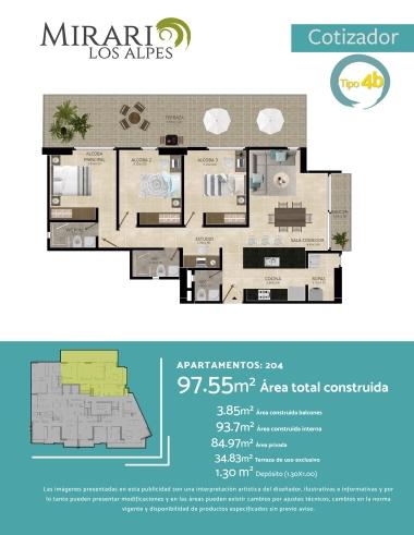Compra Apartamento sector Los Alpes, Pereira